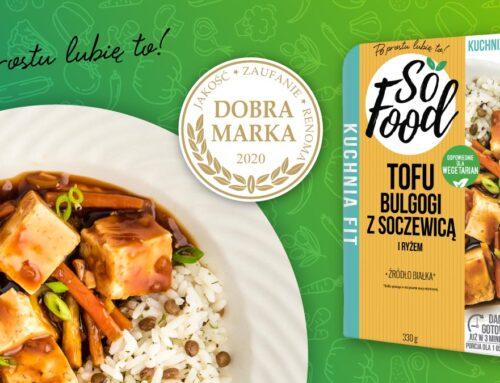 """Danie So Food Tofu Bulgogi z certyfikatem """"Dobry Produkt"""""""