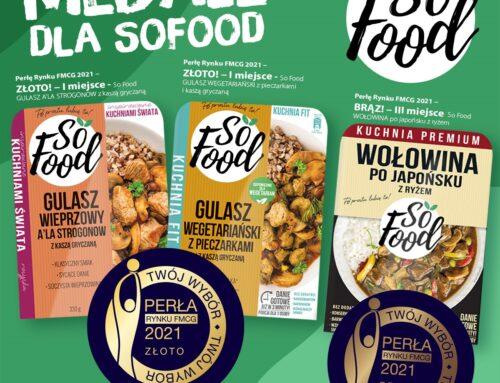Perły Rynku FMCG 2021 dla nowości produktowych So Food